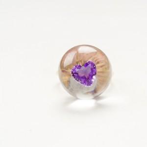 Pierścionek zaręczynowy serce z cyrkonią