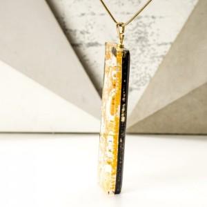 Naszyjnik złoty ręcznie malowany