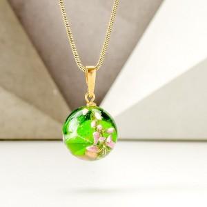 Biżuteria damska naszyjniki w wrzosem zielone 1