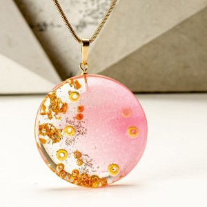 Różowo złoty naszyjnik artystyczny