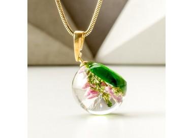 Biżuteria damska naszyjniki w wrzosem zielone