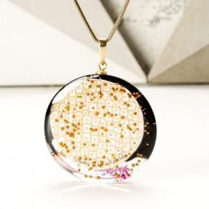 Naszyjnik złoto różowy