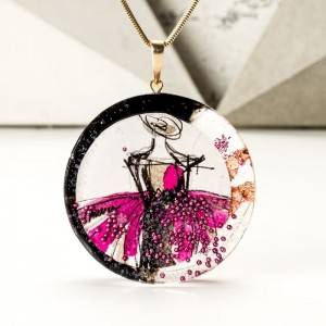 Biżuteria polski design z grafiką malowaną ręcznie.