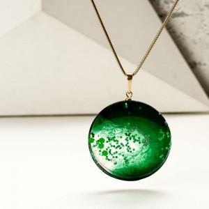 Zielony naszyjnik artystyczny