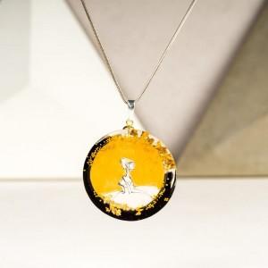 Złoty naszyjnik z imieniem artystyczny ręcznie robiony 2