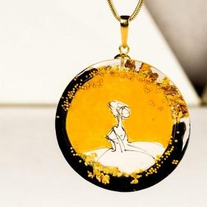 Złoty naszyjnik z imieniem artystyczny ręcznie robiony 1