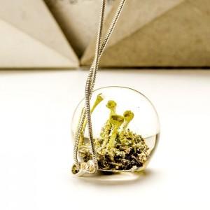 Biżuteria srebrna damska inspirowana lasem z roślinami.20
