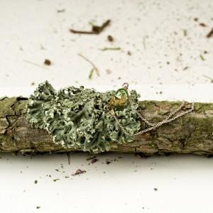 Bransoletka artystyczna z zielonym serduszkiem 2