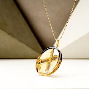 Biżuteria srebrna naszyjniki z grafiką malowaną ręcznie 1