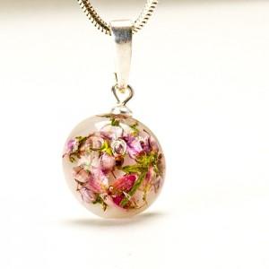 Naszyjnik artystyczny kwiatowy