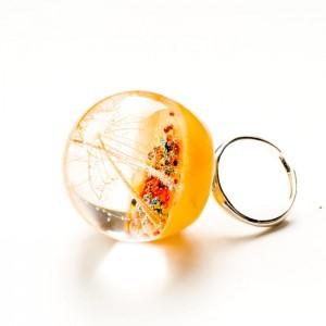 Pierścionek srebrny, duże oczko pierścionka.