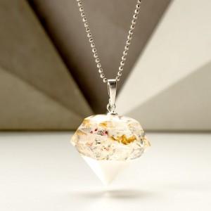 Kolorowy naszyjnik w kształcie diamentu 1