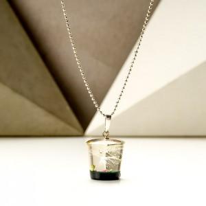 Zawieszki do łańcuszka srebrnego z wrzosem i dmuchawcem.