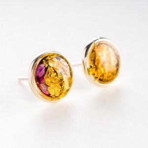 Kolczyki wkrętki minimalistyczne złoto różowe