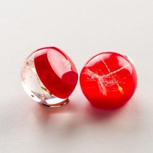 Biżuteria z charakterem, czerwone kolczyki.1