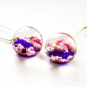 Biżuteria z charakterem w fioletowym kolorze.1