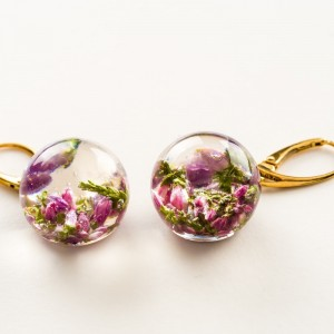 Kolczyki złote, wiszące kwiaty.1