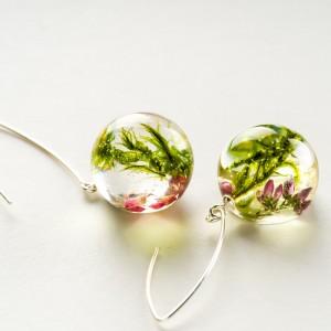 Kolczyki różowo zielone