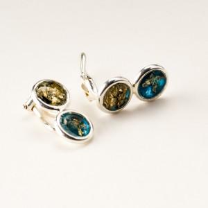 Klipsy srebrne do uszu ręcznie robione srebro próby 925 nr 1