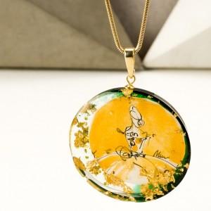 Naszyjnik złoty handmade biżuteria artystyczna 2