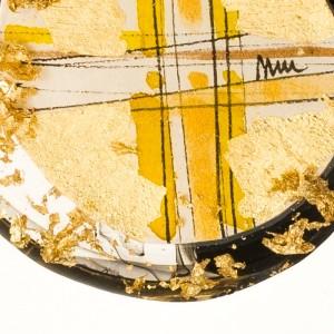 Artystyczny naszyjnik rękodzieło pozłacany złoty 2