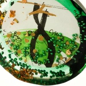 Zielony naszyjnik z wisiorem 2