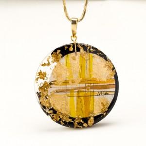 Ręcznie zrobiony naszyjnik złoty 1