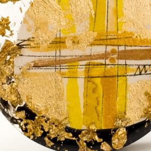Ręcznie zrobiony naszyjnik złoty 2