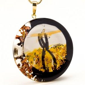 Złoto czarny naszyjnik artystyczny 1