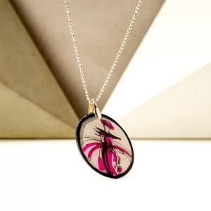 Długie naszyjniki damskie rysunek w biżuterii srebrnej
