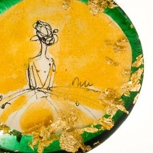 Złoty naszyjnik artystyczny.