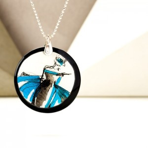Naszyjnik personalizowany srebrny łańcuszek z zawieszką 1