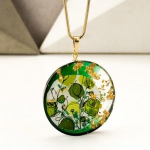 Biżuteria projektancka, zielona inspiracja.1