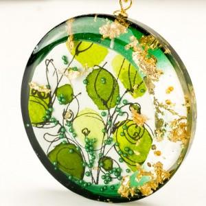 Biżuteria projektancka, zielona inspiracja.