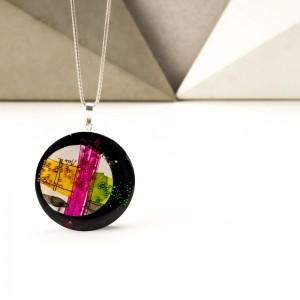 Naszyjniki artystyczne w biżuterii malowanej ręcznie.1