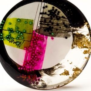 Naszyjniki artystyczne w biżuterii malowanej ręcznie.