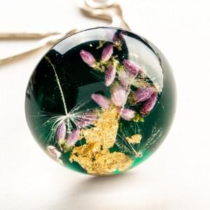 Biżuteria artystyczna- zielony naszyjnik.1