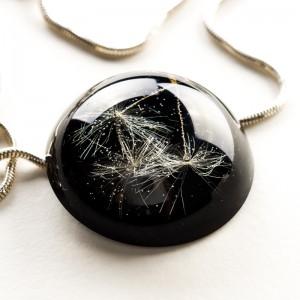 Czarny naszyjnik damski-biżuteria artystyczna.1