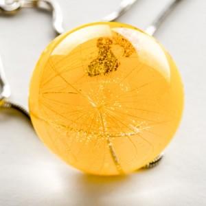 Naszyjnik żółty z dmuchawcem.1