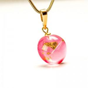 Biżuteria artystyczna-naszyjnik z dmuchawcem.