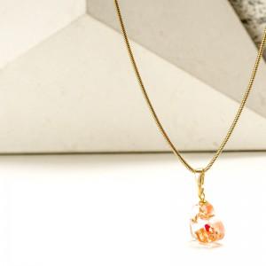 Biżuteria artystyczna- serce z miedzianymi płatkami.1