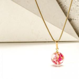 Biżuteria z żywicy- naszyjnik z kwiatami.1