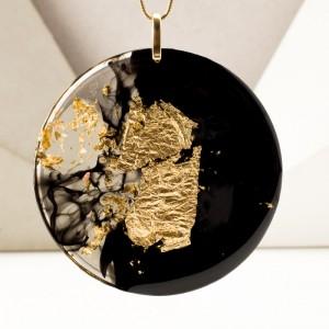 Naszyjnik srebrny pozłacany, autorska biżuteria.