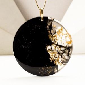 Naszyjnik srebrny pozłacany, autorska biżuteria. 11