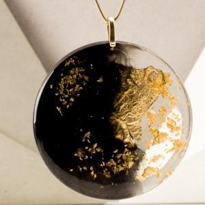 Geometryczny naszyjnik, złocona biżuteria. 1