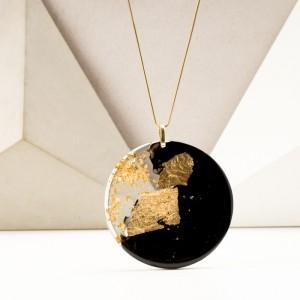 Geometryczna biżuteria autorska, złocona. 1