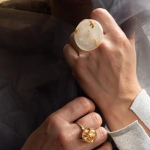 Komplet pierścionków artystycznych to biżuteria artystyczna ręcznie robiona 1