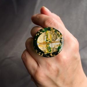 Pierścionek artystyczny Natura ręcznie wykonany od Krolikovska biżuteria artystyczna 2