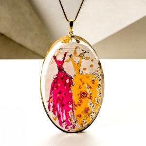 Naszyjnik damski ręcznie wykonany, biżuteria artystyczna od polskiego projektanta 2
