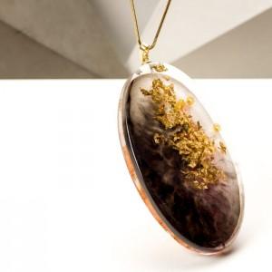 Naszyjnik damski ręcznie wykonany, biżuteria artystyczna od polskiego projektanta
